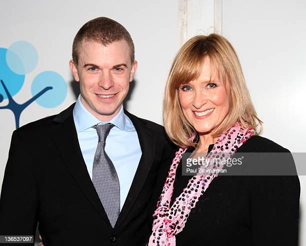 2002 US Olympic Bronze Medalist Timothy Goebel and former Olympian JoJo Starbuck emcee The Skate Against Breast Cancer event at the Citi Pond in...