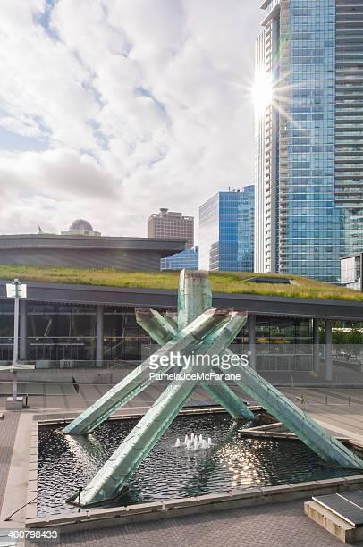 Olympic Cauldron at Jack Poole Plaza, Vancouver, British Columbia