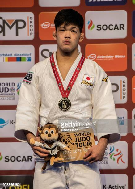 Olympic champion and under 73kg gold medallist Shohei Ono of Japan during the 2018 Dusseldorf Grand Slam at the ISS Dome Dusseldorf Germany on...