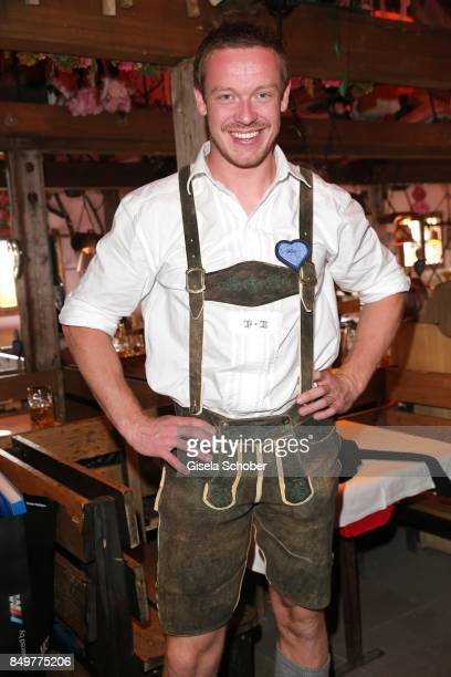 Olympic champion bobsledding during the 'BMW Wies'n SportStammtisch' as part of the Oktoberfest at Theresienwiese on September 19 2017 in Munich...
