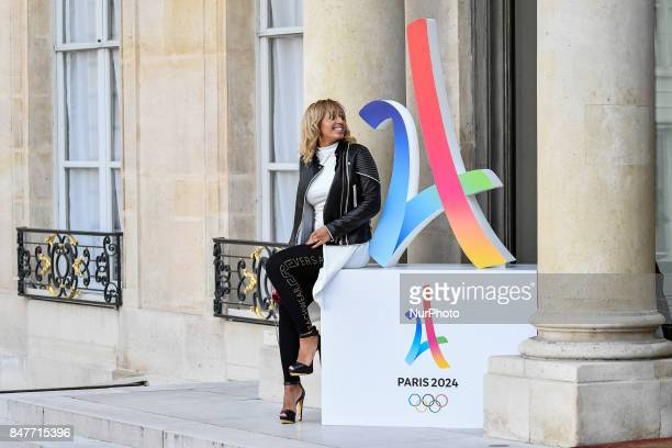Olympic Champion Estelle Mossely attends to celebrate Paris being announced as the host of the 2024 Olympics and Paralympics Games at the Elysee...