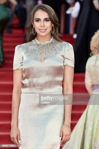 Olympic champion in rhythmic gymnastics Margarita Mamun attends opening of the 39th Moscow International Film Festival outside the Karo 11 Oktyabr...