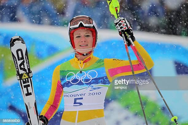 Olympic Champion Maria Riesch GER Slalom der Frauen slalom women 26 2 2010 Olympische Winterspiele in Vancouver 2010 Kanada olympic winter games...