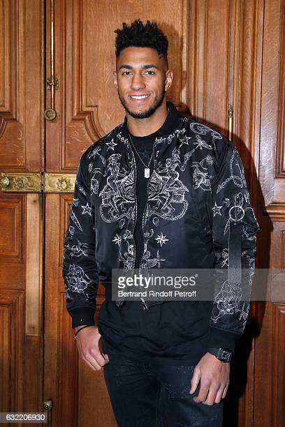 Olympic Champion of Boxe Tony Yoka attends the Givenchy Menswear Fall/Winter 20172018 show as part of Paris Fashion Week on January 20 2017 in Paris...