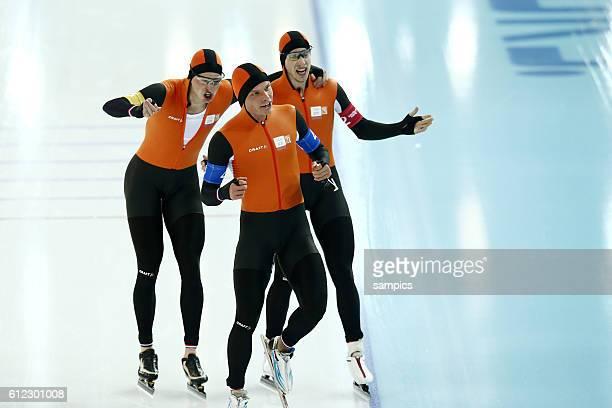 Olympic Champion Olympiasieger Goldmedalist Goldmedailiengewinner Team Niederlande Netherlands BLOKHUIJSEN Jan KRAMER Sven VERWEIJ Koen...
