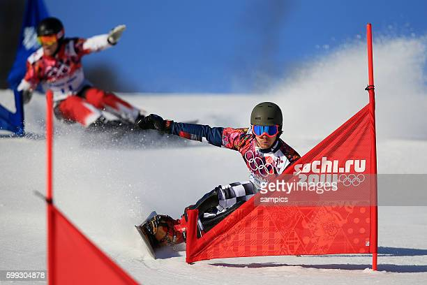 Olympic Champion Olympiasieger Goldmedalist Goldmedailiengewinner Vic Wild RUS Snowboard Parallel Slalom in Rosa Khutor Extreme Park olympic winter...