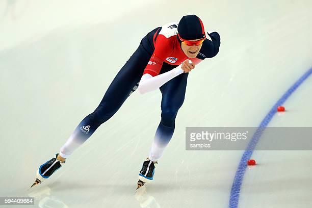 Olympic Champion Olympiasieger Goldmedalist Goldmedailiengewinnerin Siegerin Martina Sablikova CZE speedskating women Eisschnellaufen 5000 meter...
