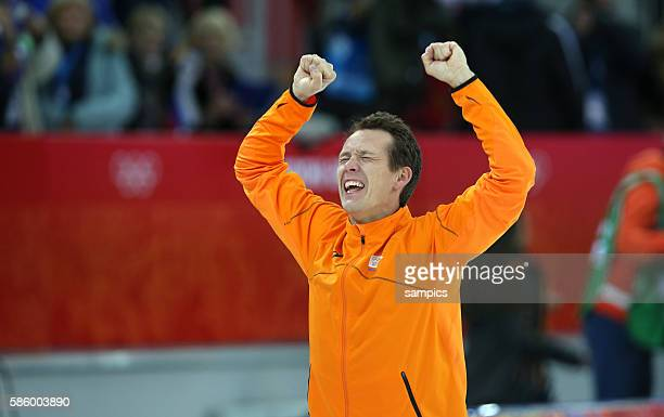 Olympic Champion Stefan Groothuis mens speedskating 1000m Adler Arena Skating Center Olympic Games Day 5 XXII Olympic Winter Games Sochi 2014