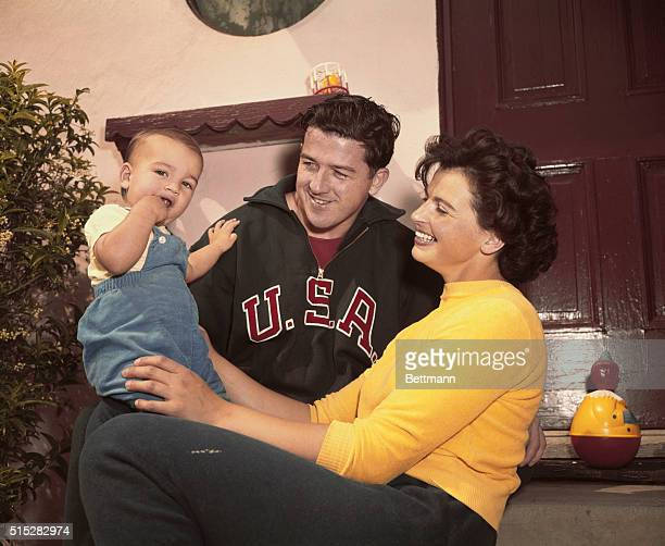 Olympic champions Harold Connolly and Olga Fikotova with their son The pair met during the 1956 Olympics in which Connolly won gold in the hammer...