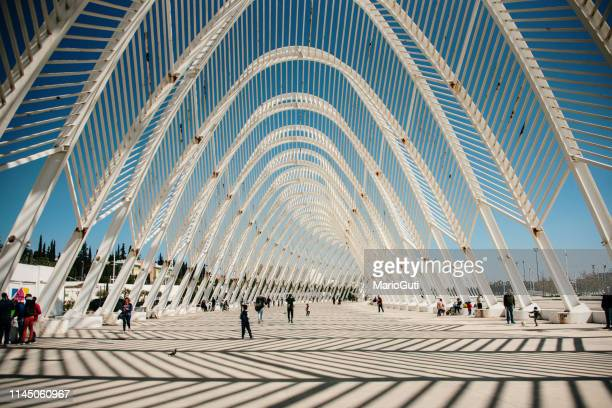 olympic complex in athens, greece - athens greece stock pictures, royalty-free photos & images