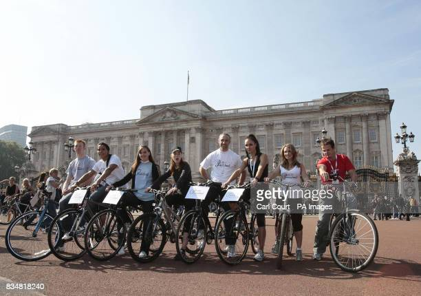 Olympic cyclists Ed Clancy Shanaze Reade and Victoria Pendleton Hollyoakes actor Roxanne McKee Olympic cyclist James Staff Gladiator star Jenny Pacey...
