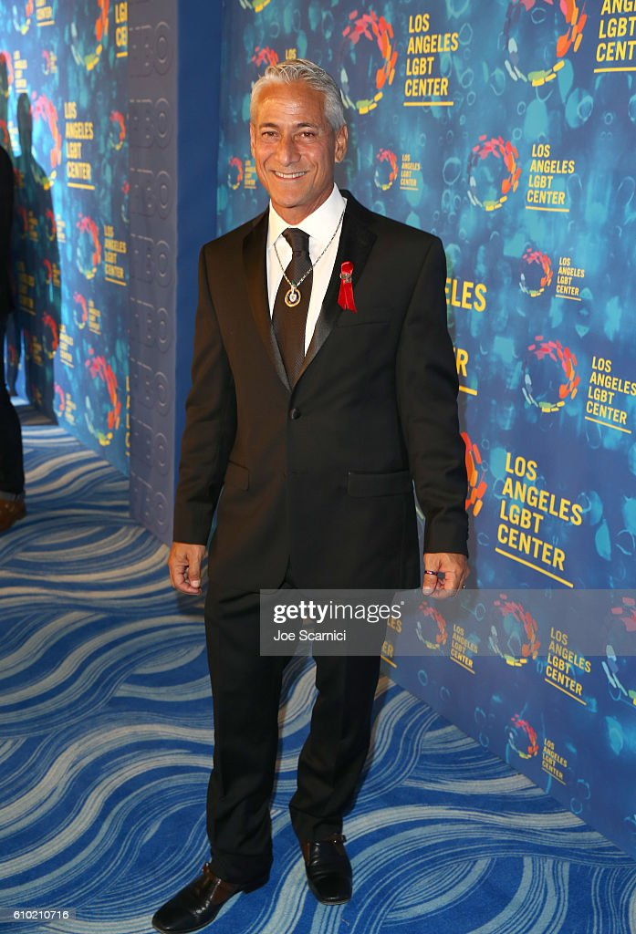 Olympic diver Greg Louganis attends the Los Angeles LGBT Center 47th Anniversary Gala Vanguard Awards at Pacific Design Center on September 24, 2016 in West Hollywood, California.