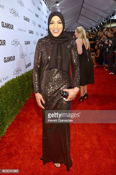 Olympic fencer Ibtihaj Muhammad attends Glamour Women Of The Year 2016 at NeueHouse Hollywood on November 14 2016 in Los Angeles California