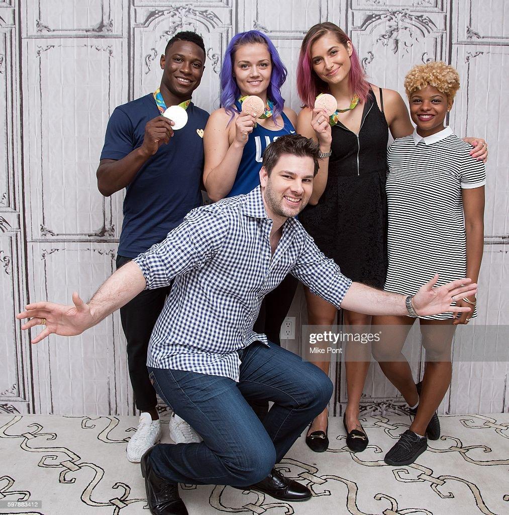 AOL Build Presents 2016 Rio Olympics Fencing Athletes Daryl Homer, Dagmara Wozniak, Monica Aksamit And Nzingha Prescod