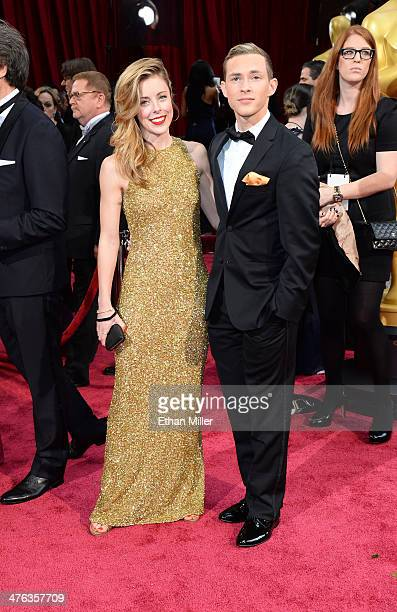 Olympic figure skater Ashley Wagner and Adam Rippon attend the Oscars held at Hollywood Highland Center on March 2 2014 in Hollywood California