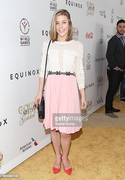 Olympic figure skater Ashley Wagner attends CW3PR presents Gold Meets Golden at Equinox Sports Club on February 21 2015 in Los Angeles California