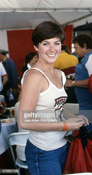 Olympic figure skater Dorothy Hamill attends the 4th United States Toyota Grand Prix west on April 8 1979 in Long Beach California