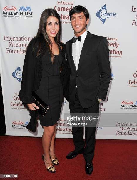 Olympic Figure Skater Evan Lysacek and guest arrive at the International Myeloma Foundation's 3rd Annual Comedy Benefit Celebration at The Wilshire...