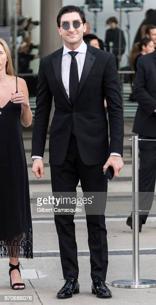 Olympic figure skater Evan Lysacek is seen arriving to the 2018 CFDA Fashion Awards at Brooklyn Museum on June 4 2018 in New York City