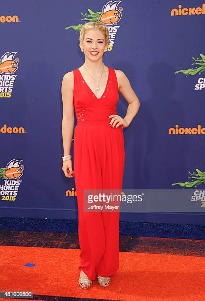 Olympic figure skater Gracie Gold arrives at the Nickelodeon Kids' Choice Sports Awards 2015 at UCLA's Pauley Pavilion on July 16 2015 in Westwood...