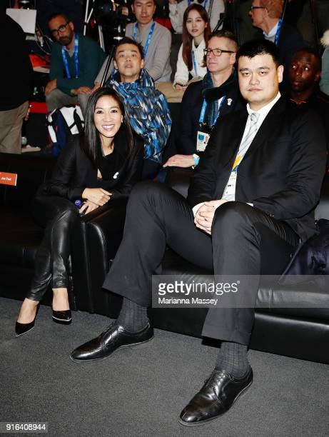 Olympic figure skater Michelle Kwan and NBA legend and Olympian Yao Ming at the opening of the Alibaba Showcase at the PyeongChang 2018 Winter...
