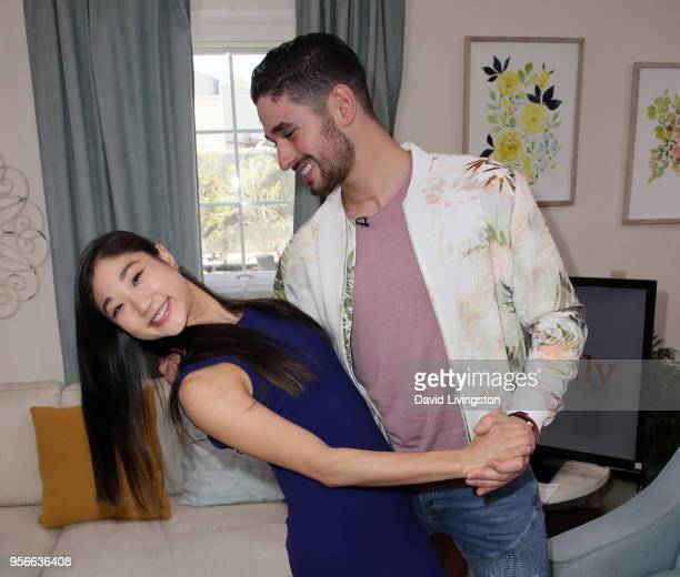 Olympic figure skater Mirai Nagasu and dancer/TV personality Alan Bersten visit Hallmark's 'Home Family' at Universal Studios Hollywood on May 9 2018...