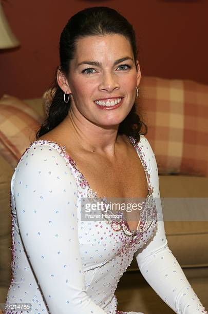 S Olympic Figure Skater Nancy Kerrigan poses for photos backstage durring the Frosted Pink Presented by sanofiaventis and Wachovia Putting Women's...