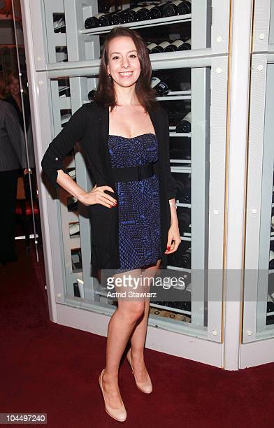 Olympic figure skater Sarah Hughes attends the Golf Channel's Big Break Dominican Republic screening at Le Cirque on September 27 2010 in New York...