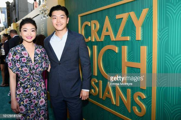 Olympic figure skaters Maia and Alex Shibutani arrive at Warner Bros Pictures' Crazy Rich Asians Premiere at TCL Chinese Theatre IMAX on August 7...