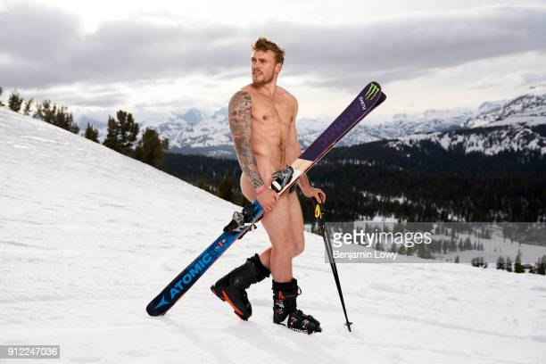 Olympic freestyle skier Gus Kenworthy poses nude for ESPN The Magazine Body Issue on May 14 2017 in Mammoth Lakes California