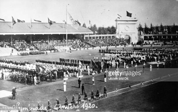 Olympic Games Antwerpen 1920: Opening ceremony