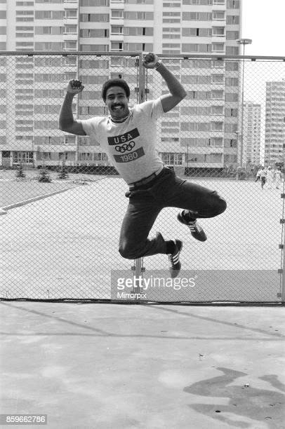 Olympic Games at the Central Lenin Stadium in Moscow Soviet Union British gold medal winner Daley Thomson who won the Decathlon event 27th July 1980