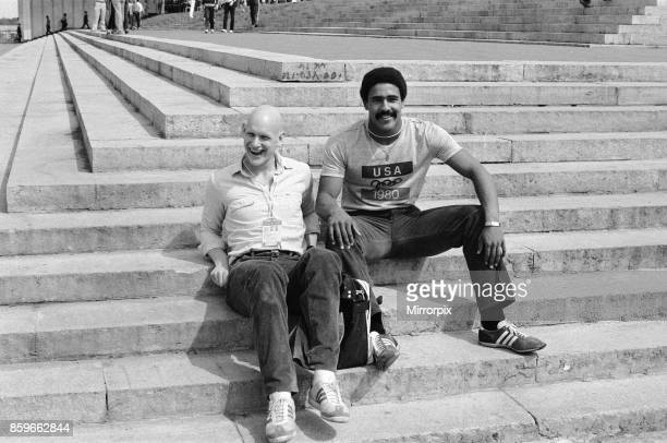 Olympic Games at the Central Lenin Stadium in Moscow Soviet Union British gold medal winners Duncan Goodhew who won the Men's Breaststroke 100 metres...