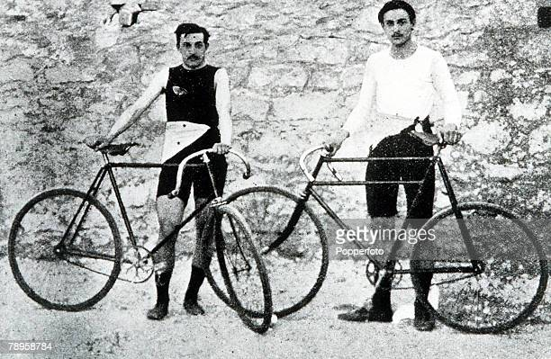 Olympic Games, Athens, Greece, Cycling, French winners F, Flameng and P, Masson