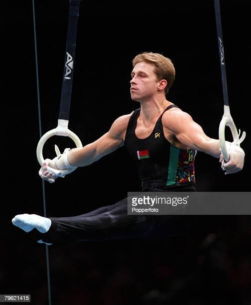 Olympic Games Atlanta USA Men's Individual Gymnastics Vitaly Scherbo of Belarus on the rings