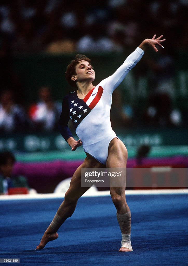 1996 Olympic Games. Atlanta, USA. Women'sTeam Gymnastics. USA's Kerri Strug, part of the gold medal winning team. : News Photo
