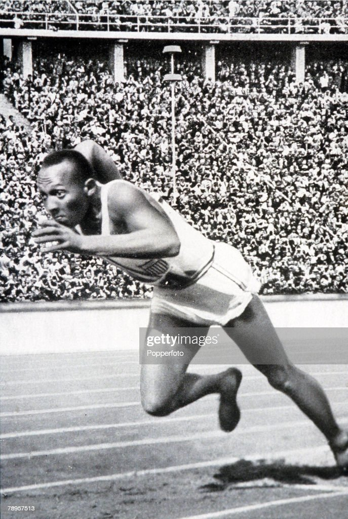 Olympic Games, Berlin, Germany, Men's 200 Metres Final, USA's legendary Jesse Owens on his way to win the gold medal