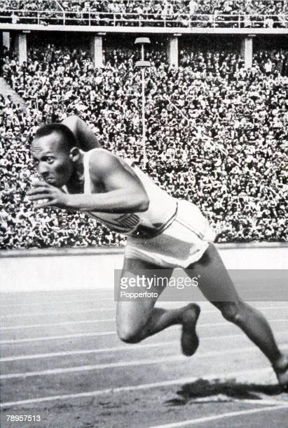 Olympic Games Berlin Germany Men's 200 Metres Final USA's legendary Jesse Owens on his way to win the gold medal
