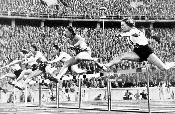 Olympic Games Berlin Germany Women's 80 Metres Hurdles The start of the race which was won by Valle of Italy