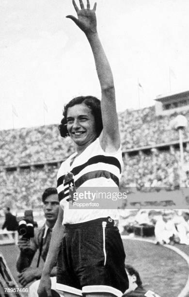 Olympic Games Berlin Germany Women's High Jump Hungary's Ibolya Csak who won the gold medal