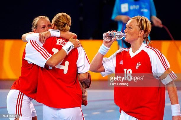 Olympic Games final DenmarkKorea Line Daugaard Trine Jensen Karen Broedsgaard Danmark