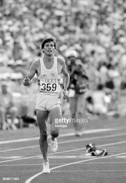 Olympic Games in Los Angeles, USA, Mens Athletics, Great Britain's Sebastain Coe who won the gold medal in the 1500 Metres Final, 11th August 1984.