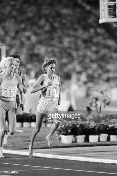 Olympic Games in Los Angeles, USA, Women's 3000 Metres Heat, Great Britain's Zola Budd in action during the race, 8th August 1984, .