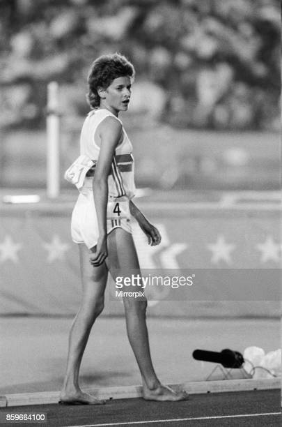 Olympic Games in Los Angeles, USA, Women's 3000 Metres Heat, Great Britain's Zola Budd after the race, 8th August 1984, .
