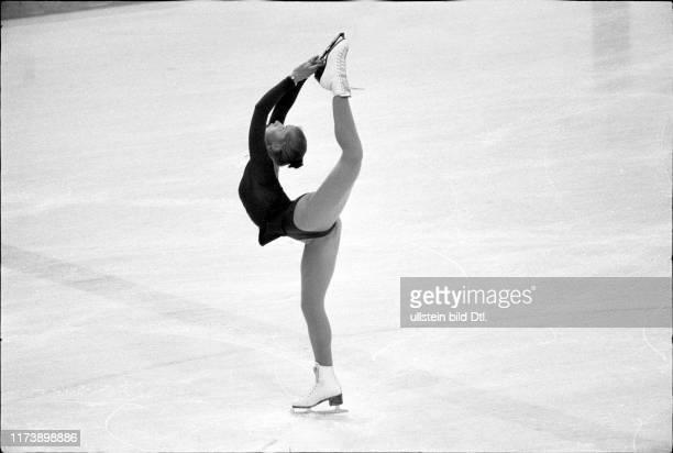 Olympic games Lake Placid 1980, figure skating, free programme: Denise Biellmann