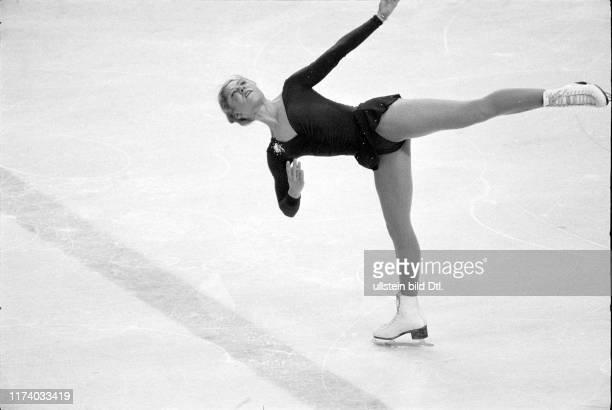 Olympic games Lake Placid 1980 figure skating free programme Denise Biellmann