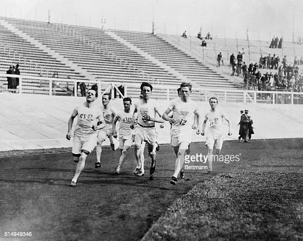 Olympic Games London England 19081500 meter flat race final rounding the bend