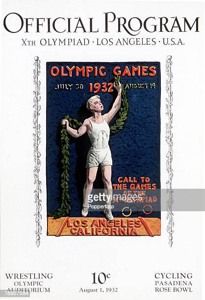 Olympic Games, Los Angeles, USA, The official programme for the cycling and wrestling events at a cost of 10 cents