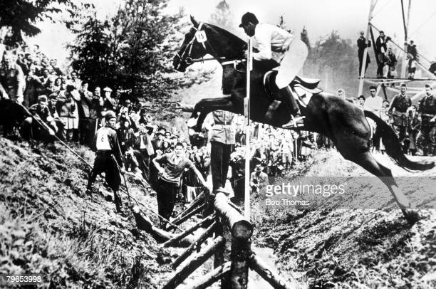 Olympic Games, Melbourne, Australia, Equestrian Games held in Stockholm due to quarantine restrictions, Three-Day Event, Germany's Silver Medal...