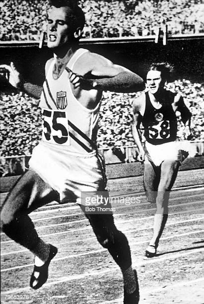 Olympic Games, Melbourne, Australia, Mens 100/200 metres, U,S,A's Robert Morrow who won Gold Medals in both events